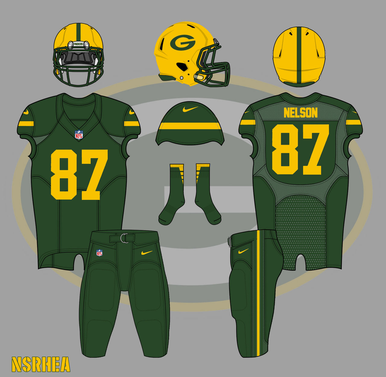 on sale 60894 427e0 Green Bay Packers 2016 Color Rush Uniform Mock by nickrhea ...
