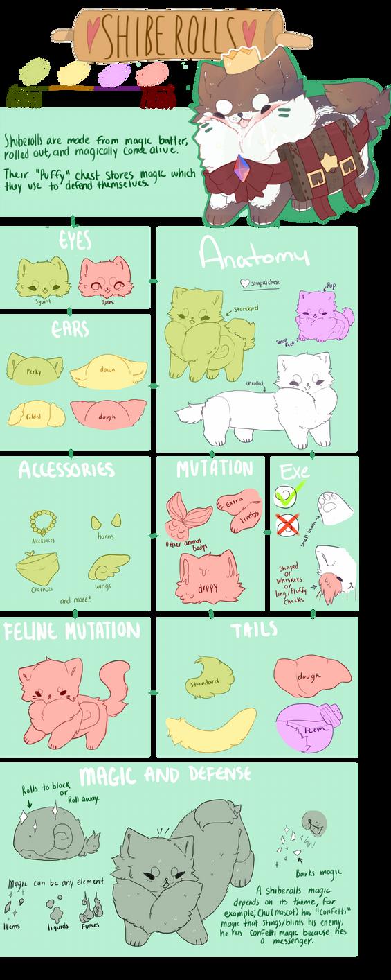 ShibeRolls Species Guide by MilkGDoll