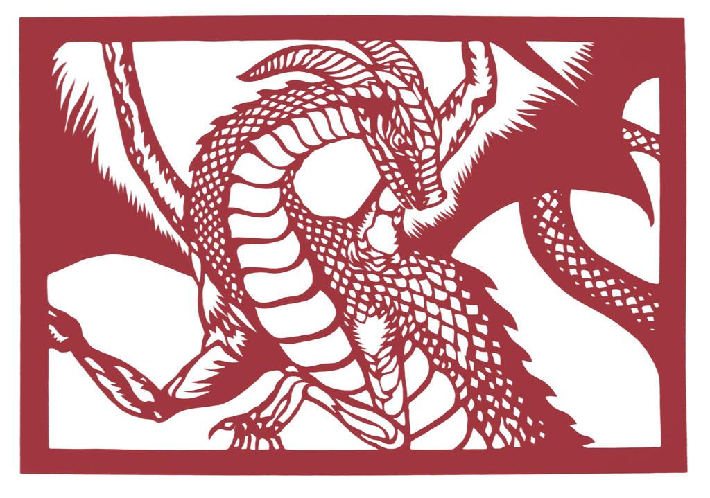 dragon paper cutting by JillianEdward on DeviantArt