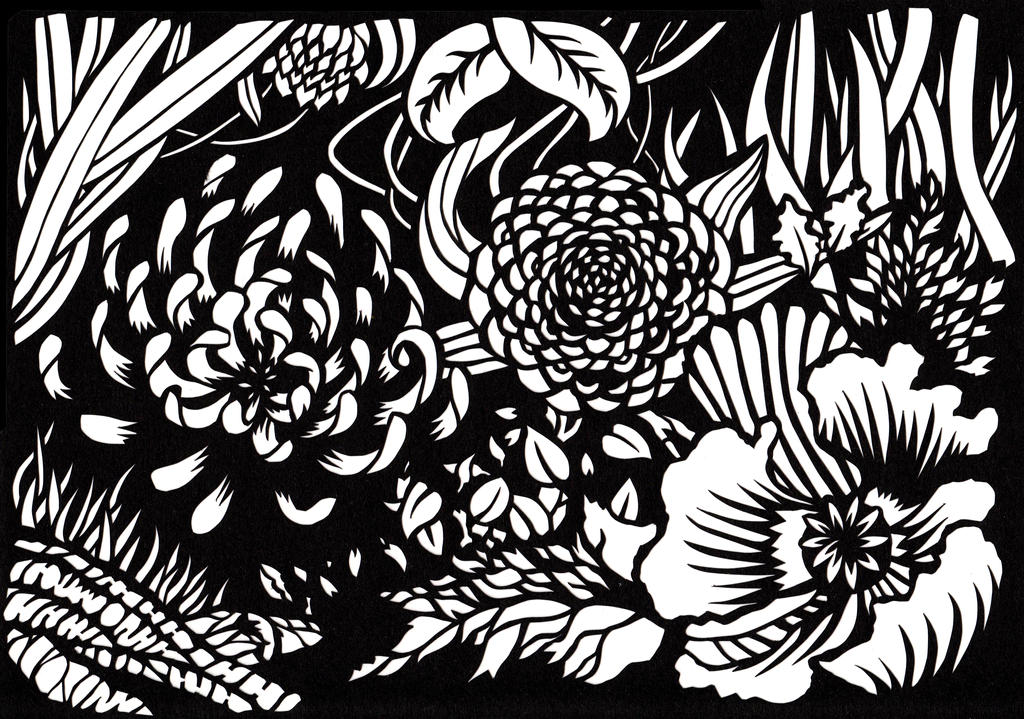 So many flowers paper cutting by jillianedward on deviantart so many flowers paper cutting by jillianedward mightylinksfo