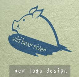 Wild boar river new logo design by JillianEdward