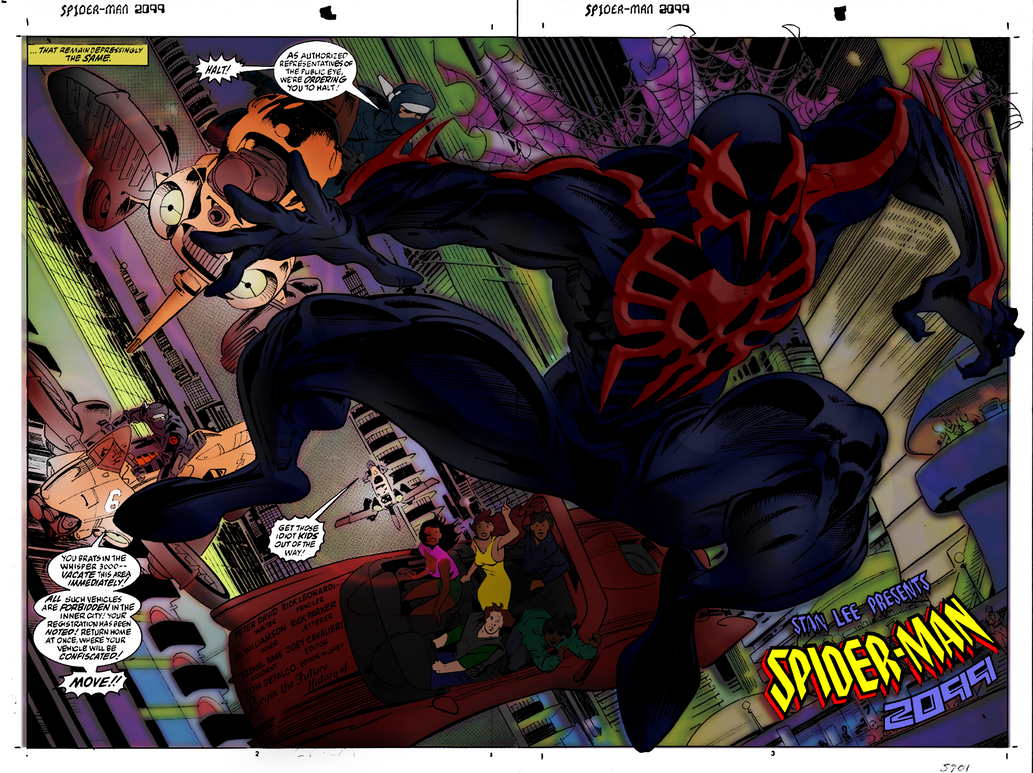 Spider Man 2099 Issue 1 Pages 3 4 Recolored By Ezekiel