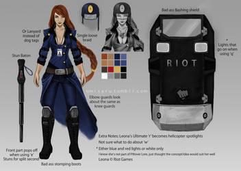 Officer Leona Skin Idea by umisaru