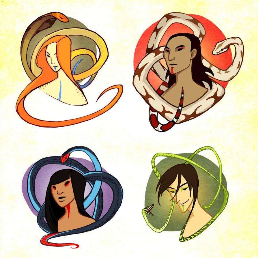 Snake portraits by lackofa