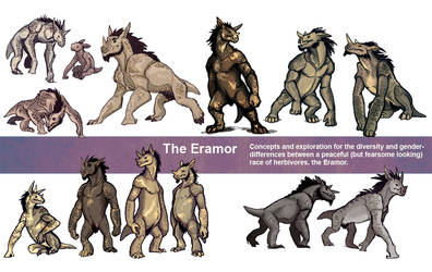 Commission: Eramor concepts by lackofa
