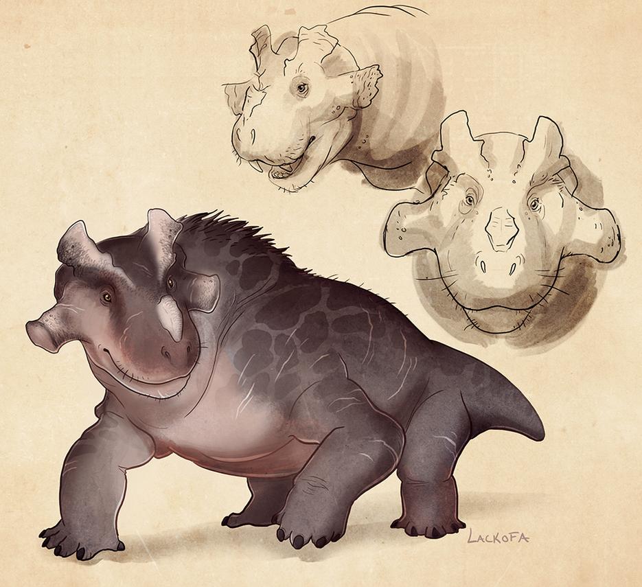 Estemmenosuchus sketches by lackofa