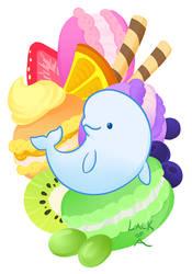 Sweet series: Beluga macaron by lackofa