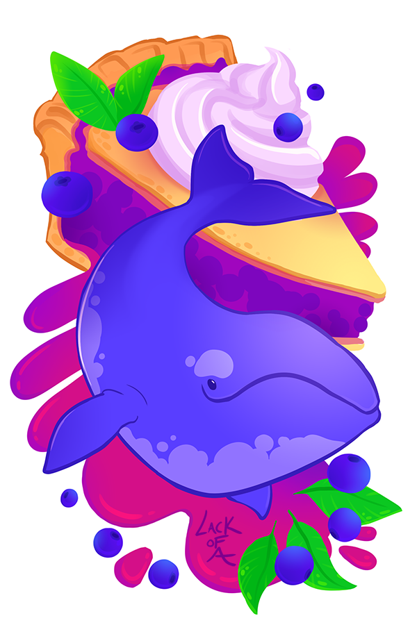 Sweet series: Blueberry Whale by lackofa