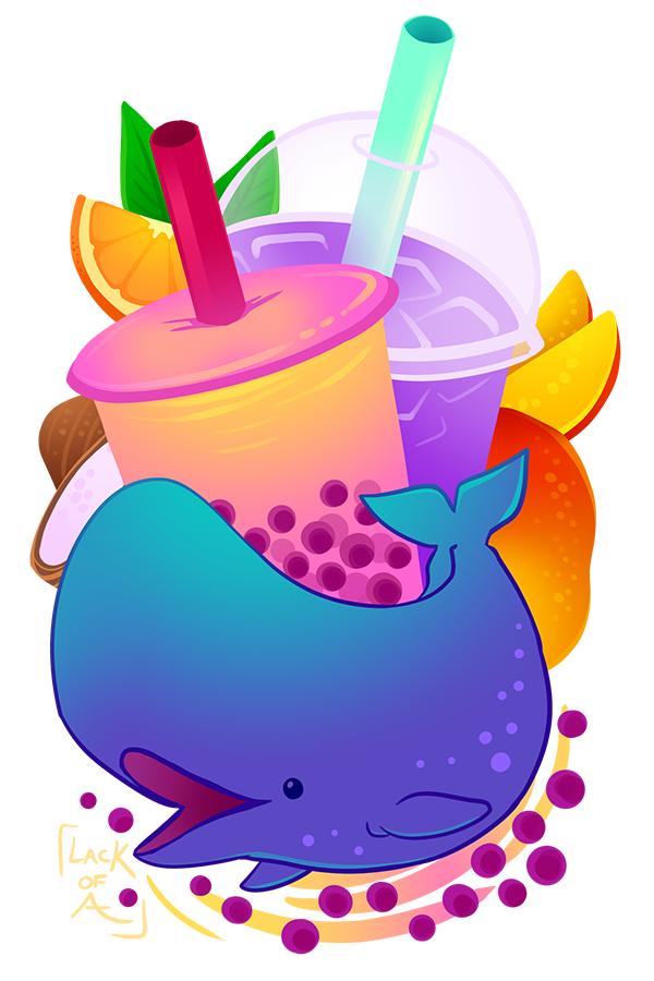 Sweet series: Boba Whale by lackofa