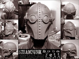 Steampunk Boba Fett Maquette by RouletteDantes
