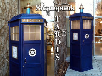 Steampunk TARDIS by RouletteDantes