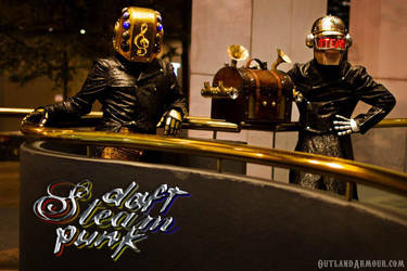 Steampunk Daft Punk I by RouletteDantes