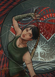 LARP Archer Dragon Age Inquisition Tarot by Skira-Reed