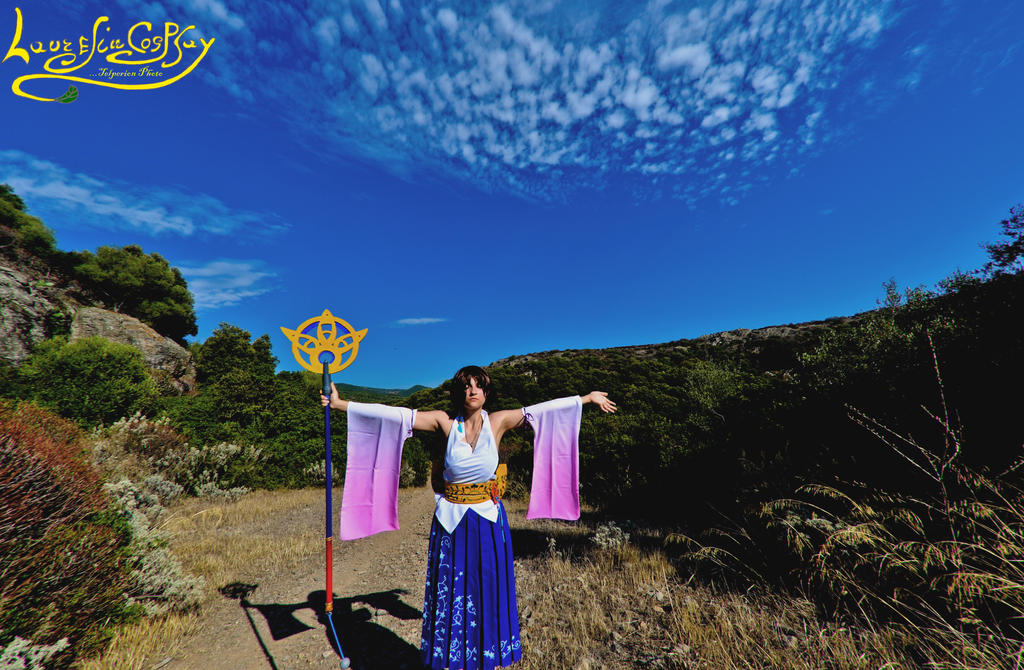 Summoning Shiva :--- Yuna CosPlay ---: by Laurelin-CosPlay