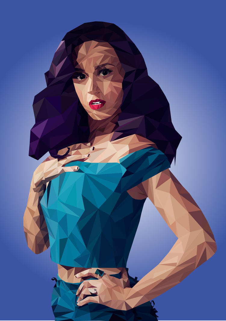 Katy Perry Low Poly by Natalita93