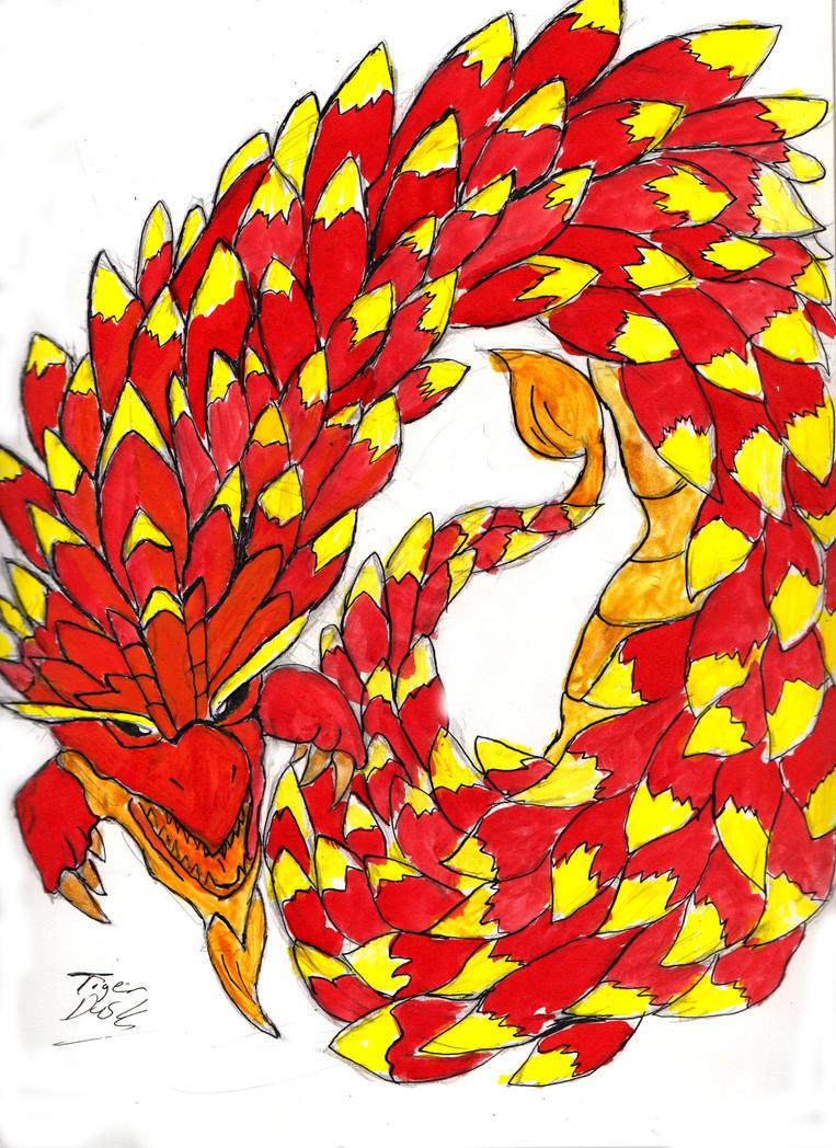 Inked Dragon by TigerDusk27