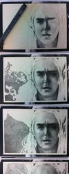 Thranduil WIPs - Pointillism by arthawk87