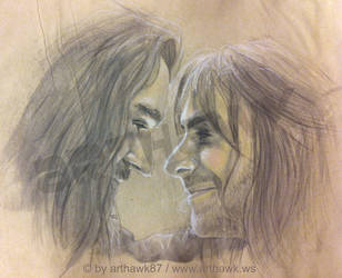 The last goodbye - Thorin and Kili by arthawk87