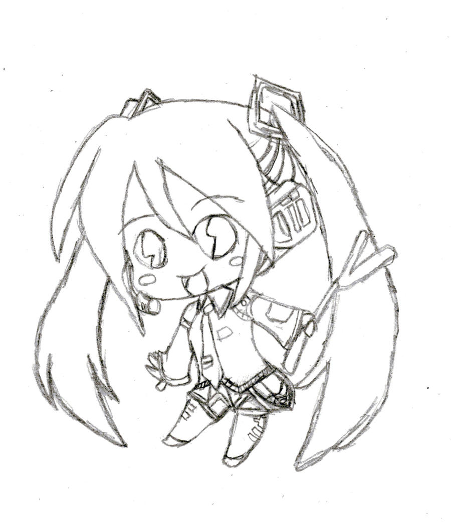hatsune miku chibi coloring pages - photo#6