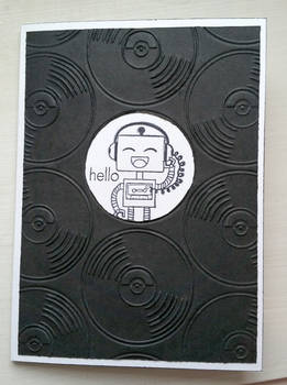 greeting card - music robot