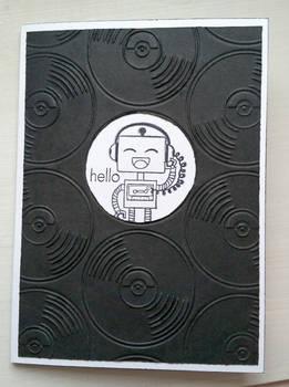 greeting card - music robot