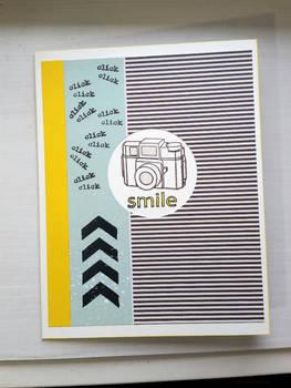 greeting card - click click smile
