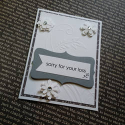 sympathy card - white flowers