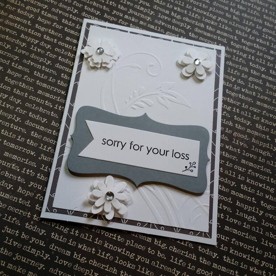 sympathy card - white flowers