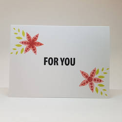 thank you card - red flowers