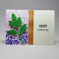 Mother's Day card - purple ombre roses