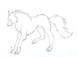 free wolf lineart by Tauregil
