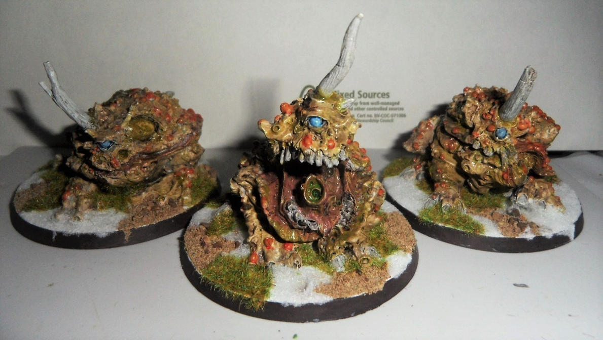 DAEMON PLAGUE TOADS OF NURGLE by Dible