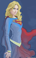 supergirl sketch by strib
