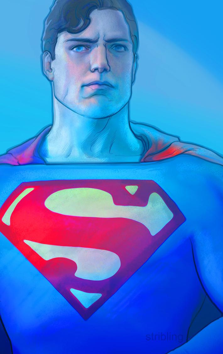 superman portrait sketch by strib
