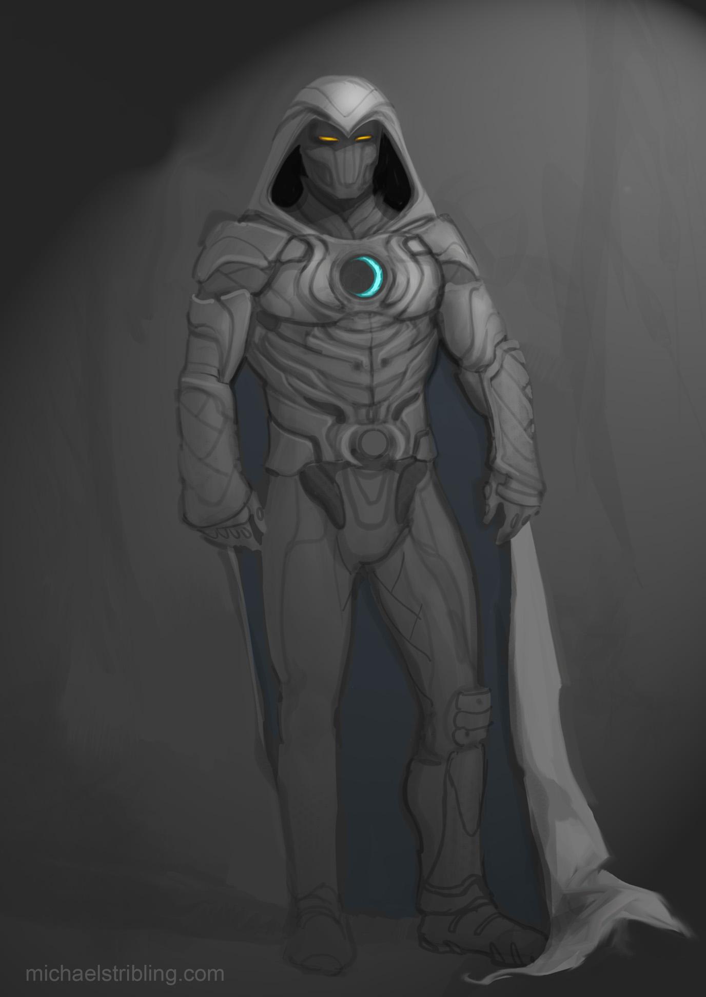 Moon Knight sketch by strib