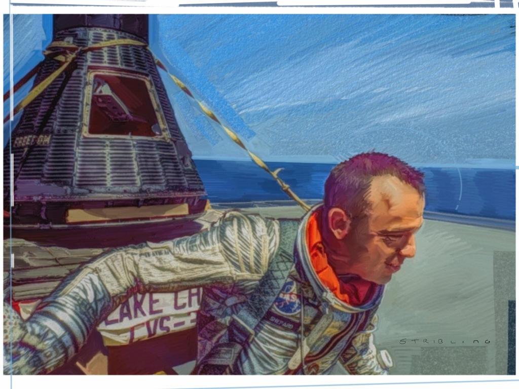 Mercury astronaut Alan Shepard by strib on DeviantArt