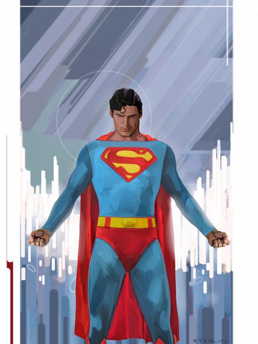 Superman prepares to take flight