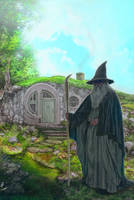 hobbithole Gandalf by strib