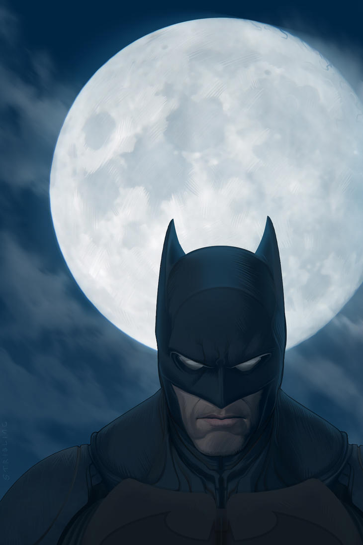 Batman Moon by strib