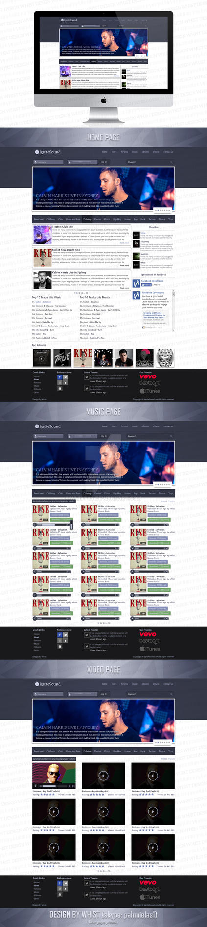 igniteSound web design by Whistas