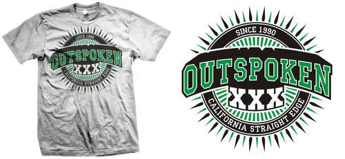 Outspoken T-design