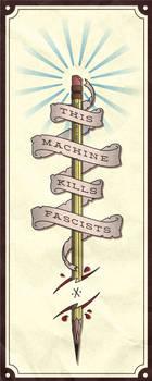 This machine kills fascists (tattoo-scetch)