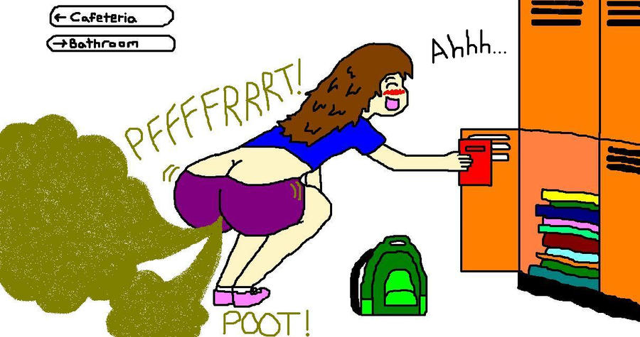 Girl Fart In Tub Deviantart: Nicole Farting In The Hallway By Naruto584 On DeviantArt