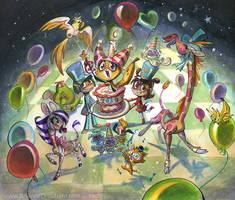 2010 Banana Cat Party by potatofarmgirl