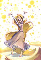 Rapunzel once more by potatofarmgirl