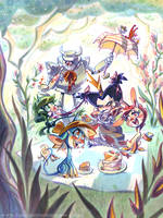 Unicorn Picnic by potatofarmgirl
