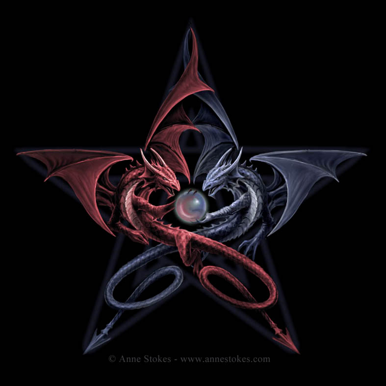 Pentagram dragons