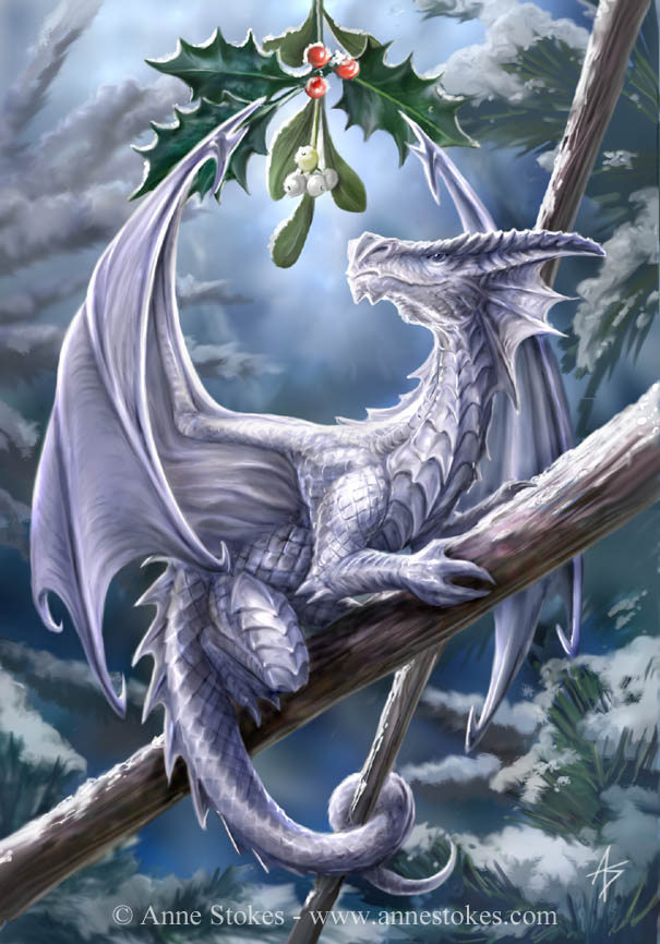 snow dragon illustration