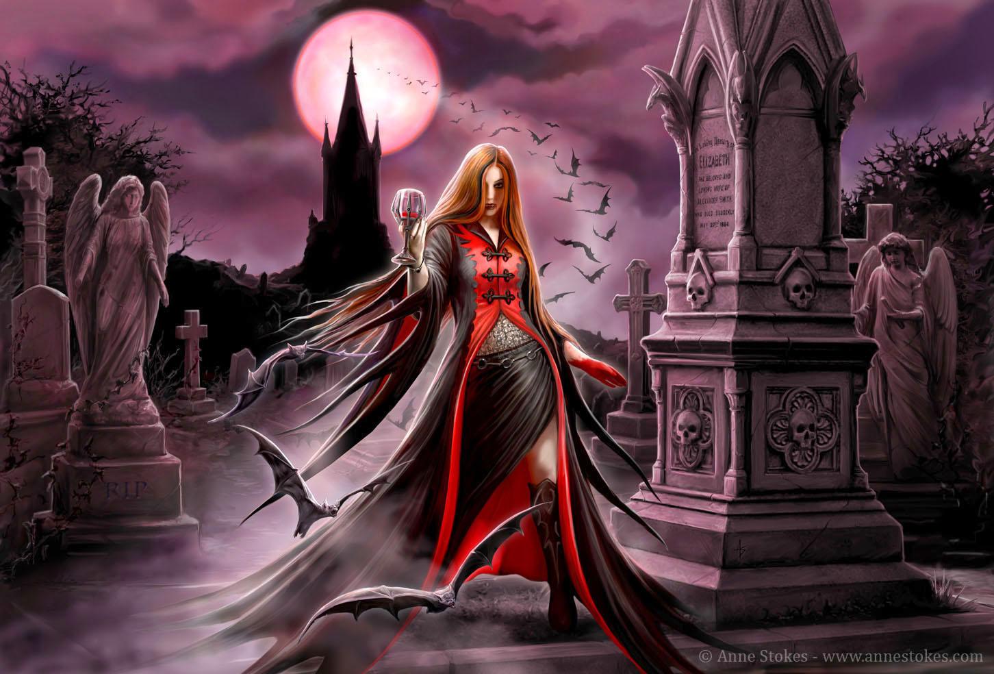 gothic vampire bloody girl - photo #37