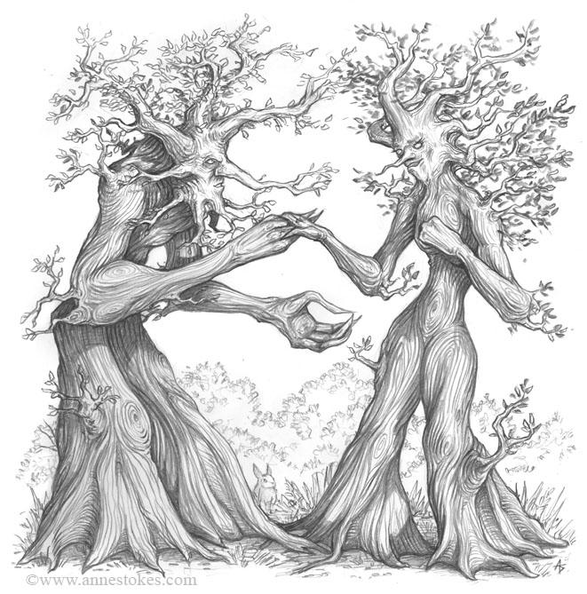 Ents Sketch By Ironshod On DeviantArt